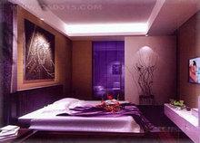 灯光昏暗的卧室