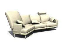 皮质沙发组合