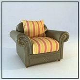 俄罗斯现代家具14-单人沙发模型