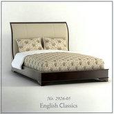 俄罗斯现代家具-双人床模型