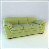 俄罗斯现代家具-绿色沙发模型