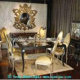 欧式奢华餐桌椅组合(含材质)