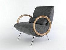 灰色实用椅子3D模型