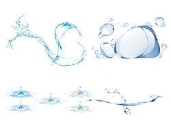 动感的水纹水滴矢量图