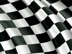 F1赛车旗帜局部矢量图