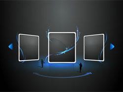 空间感网络视频框网页设计矢量图