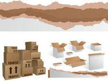 货物纸箱纸盒矢量图