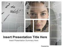 沟通无限商务网络PPT模板