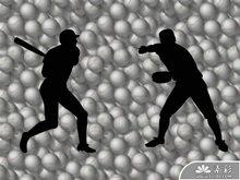 棒球运动PPT模板