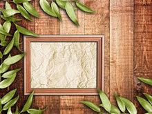 绿叶木板高清图片3