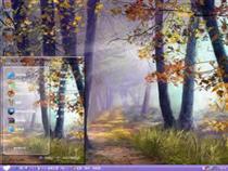 唯美意境手绘森林