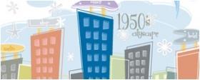 卡通城市建筑矢量图