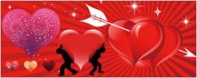 3款情人节心形图案矢量图