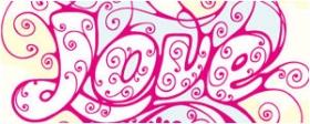 精美花纹组成的LOVE字母矢量图