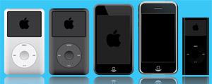 ipod苹果产品系列矢量图