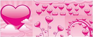 精美粉红色心形图案矢量图