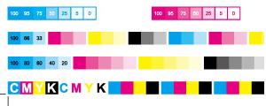 印刷色标网页配色颜色表矢量图
