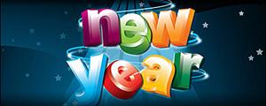 立体新年快乐英文矢量图