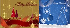 2款圣诞节装饰插画矢量图