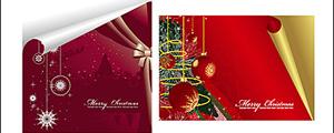 2款圣诞节卷角矢量图