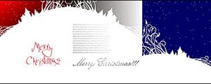 3款圣诞节雪景剪影矢量图
