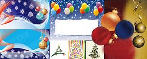 8款圣诞主题及节日气氛矢量图
