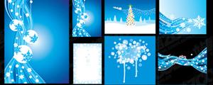蓝色冬季矢量图