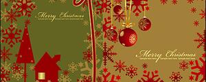 2款红色圣诞节素材矢量图