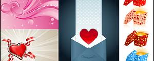 4款爱心情人节矢量图