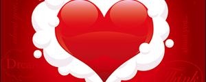 爱情心形主题矢量图