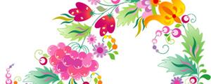 漂亮的果实花纹矢量图