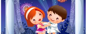 卡通儿童跳舞矢量图下载