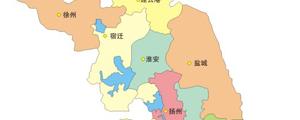 江苏省地图矢量图下载