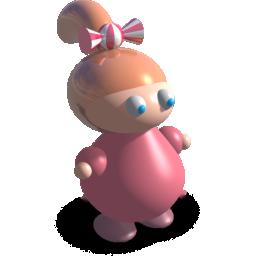 马尾辩的3D小女孩
