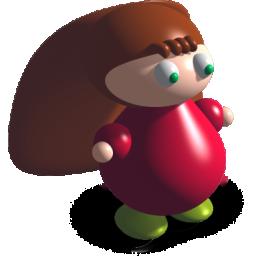 长头发的3D小女孩