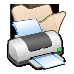 folder_beige_printer 打印机