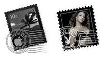 风景人物邮票PNG图标