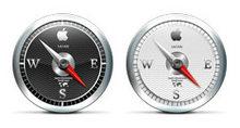 超清晰苹果指南针PNG图标