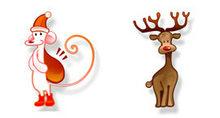 卡通质感圣诞节PNG图标