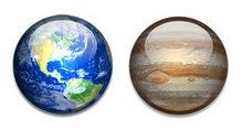 太阳系各行星和卫星PNG图标