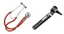 医疗器具听诊器PNG图标