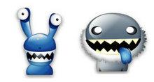 5个可爱小怪物PNG图标