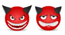 魔鬼表情头像PNG图标