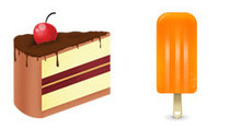 多种冰激凌和蛋糕PNG图标