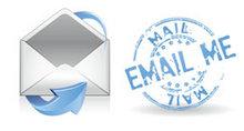 蓝色邮件PNG图标