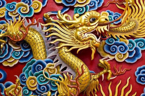 中国龙雕塑高清图片6