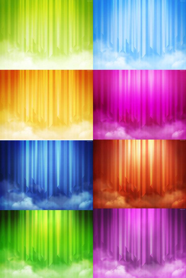 绚丽的彩色背景高清图片