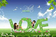 清新创意LOVE情人节图片PSD素材