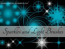高清晰火花、星光、电光高光类PS笔刷(1+2)