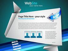 折纸网站设计矢量图4